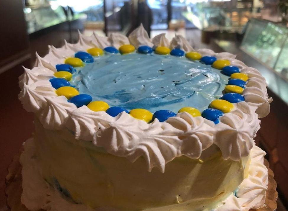 Double Rainbow ice cream cake