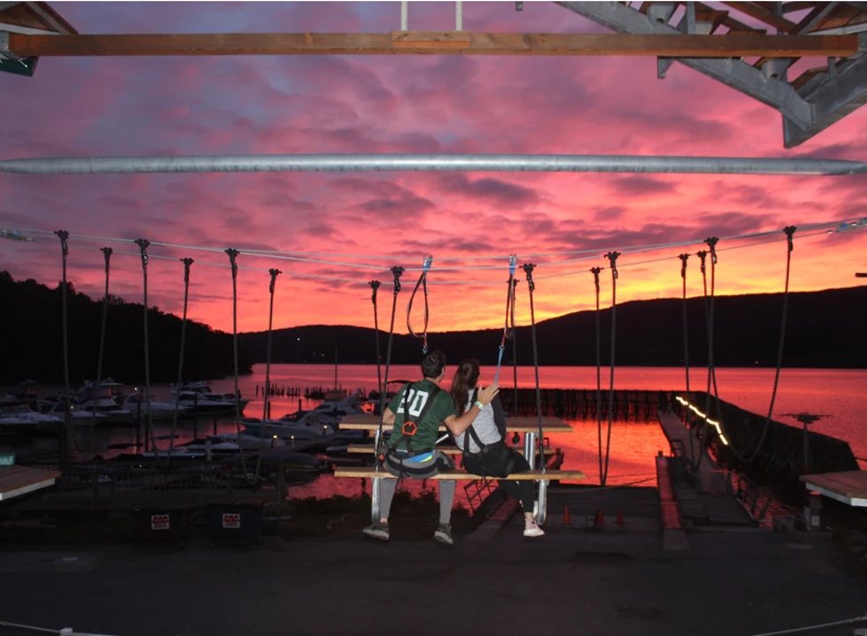 Spins Hudson ropes sunset