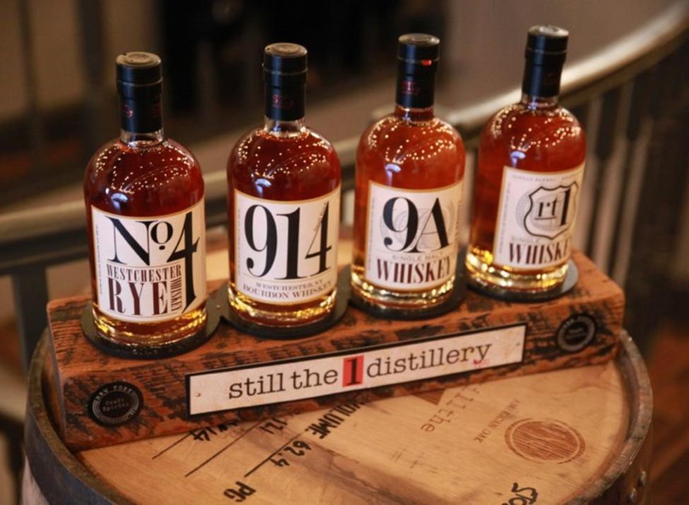 Still the One bottles on barrel