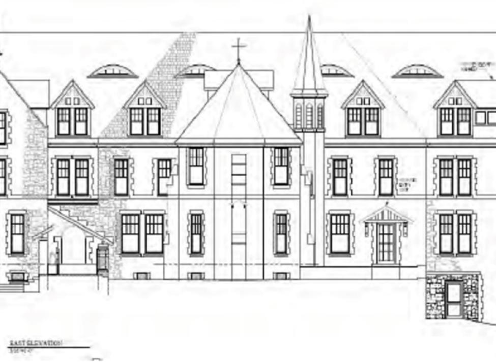Abbey Inn line drawing