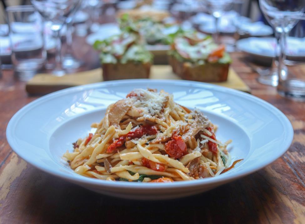 Granita wild mushroom pasta