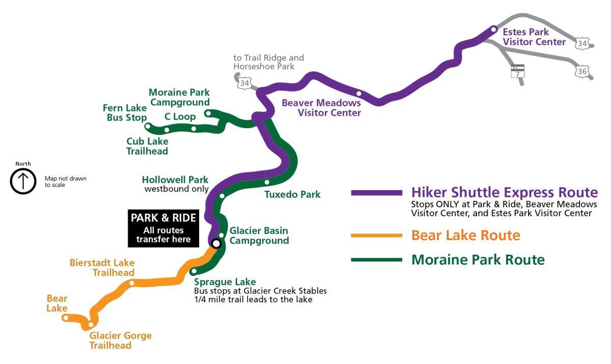 RMNP Shuttle Map