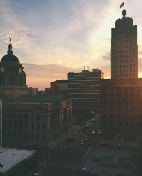 Fort Wayne, IN Sunrise Skyline - Amber Sturgis Instagram