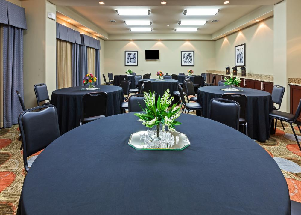 Meeting room holds maximum of 63 people.