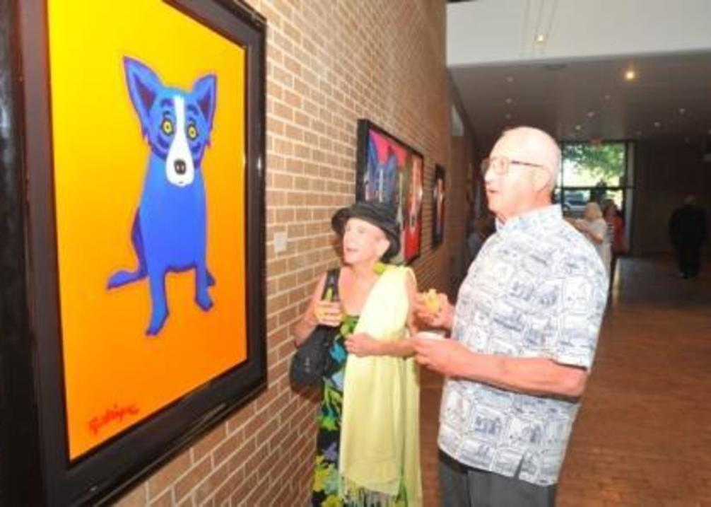 Blue Dog at AMoA