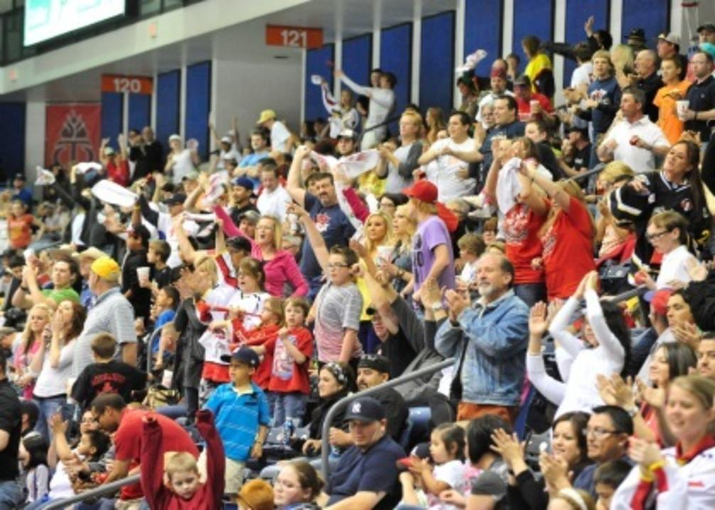 Amarillo Bulls Cheering Crowd