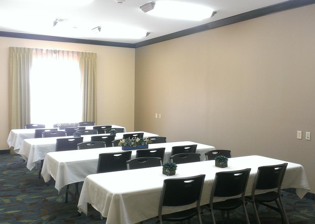 Meeting room holds 35 people.
