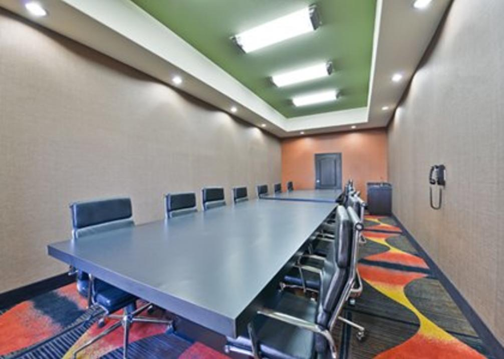 Boardroom holds 15 people.
