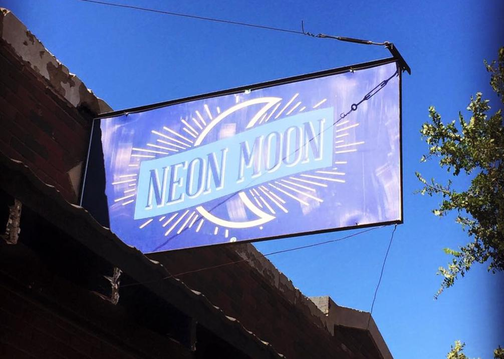 Neon Moon Storefront Sign