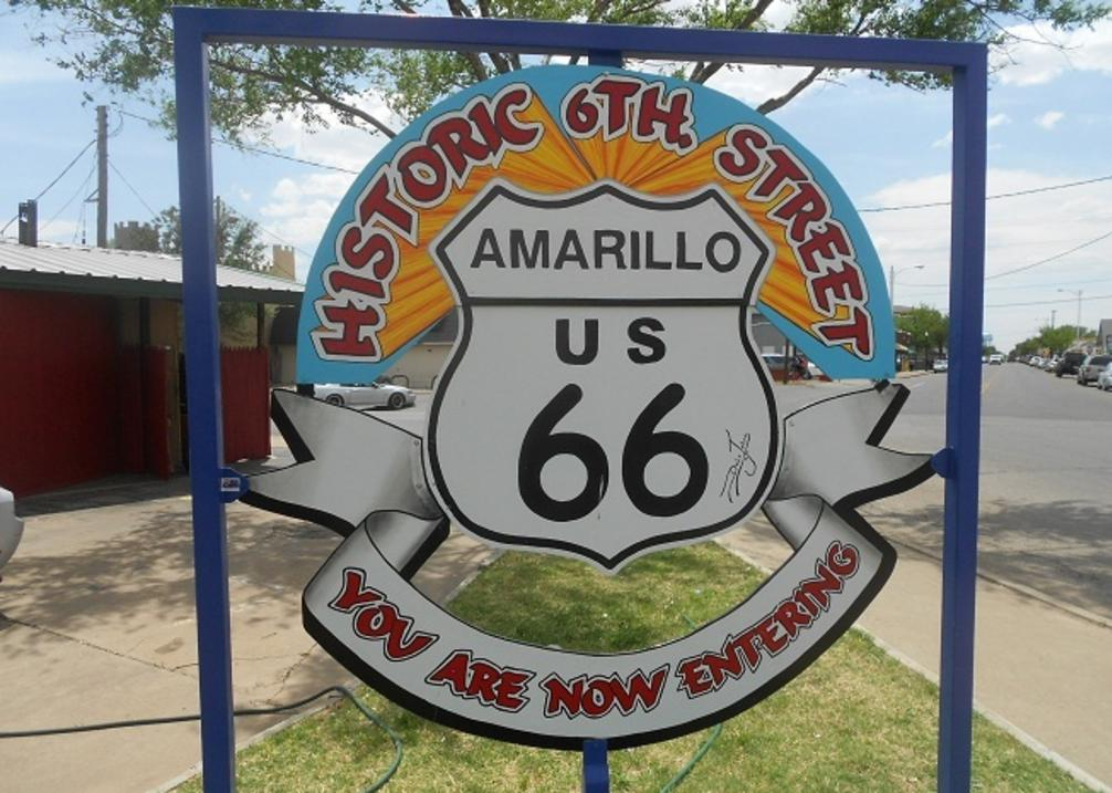Route 66 Historic District Sign