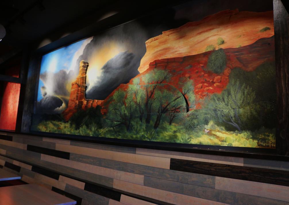 Imperial Metal Mural