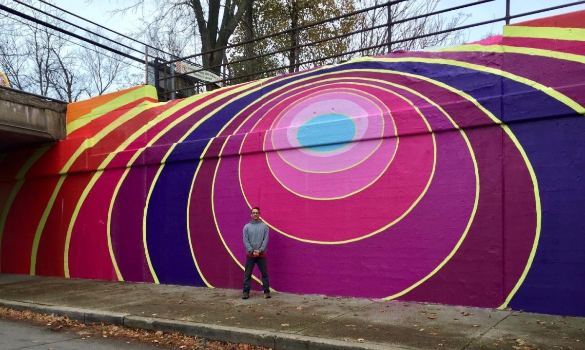 Chicago North Shore. Public Art. Evanston Mural