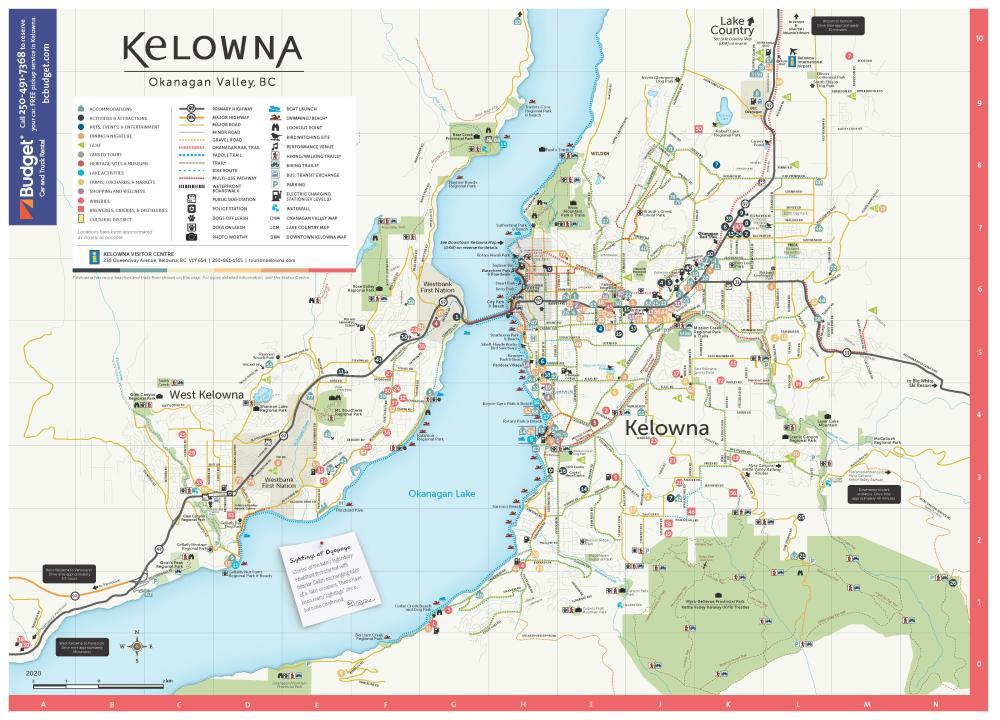 2020 Kelowna Map