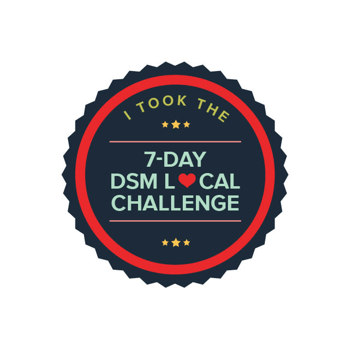Catch Des Moines - 7-Day Challenge Badge