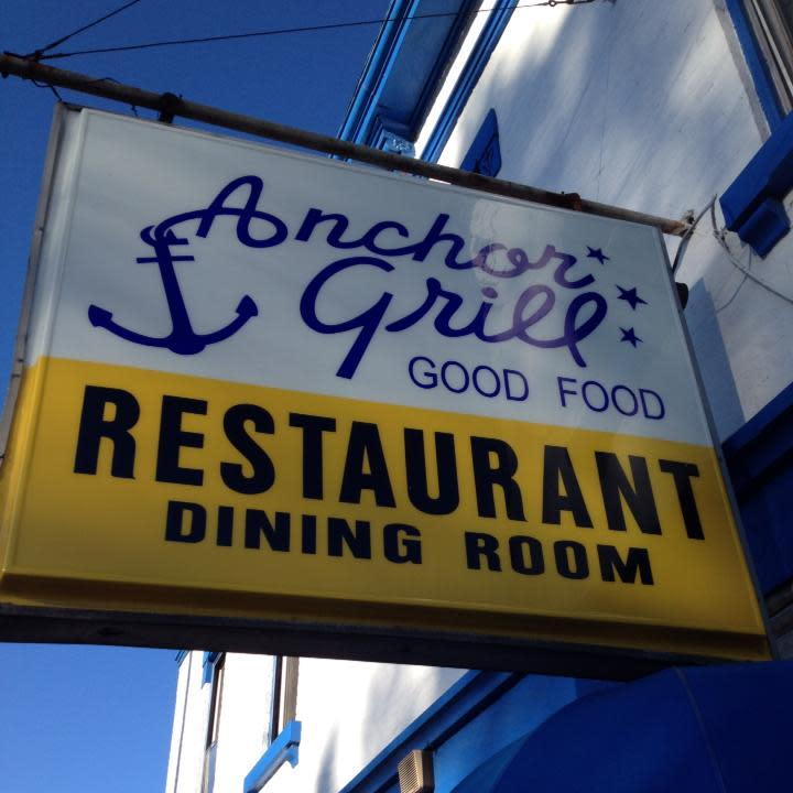 Anchor Grill sign
