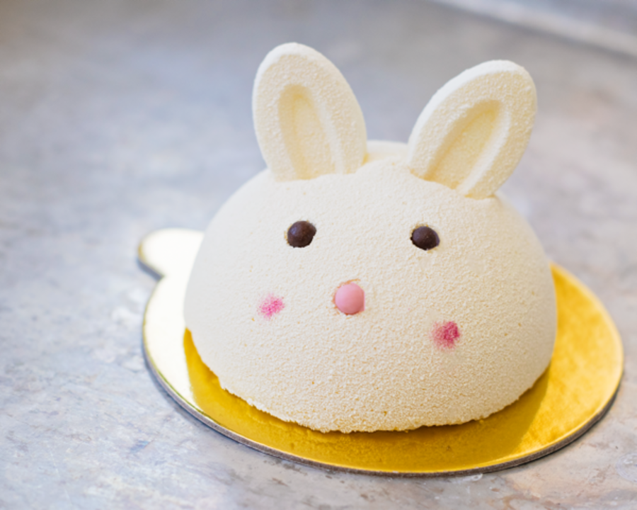 Easter Bunny pastry from Bakery Lorraine in Austin Texas