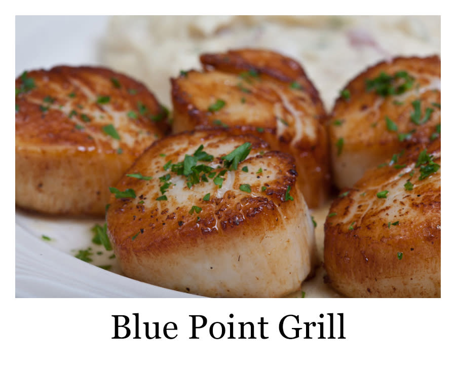 5 scallops from the blue point grill