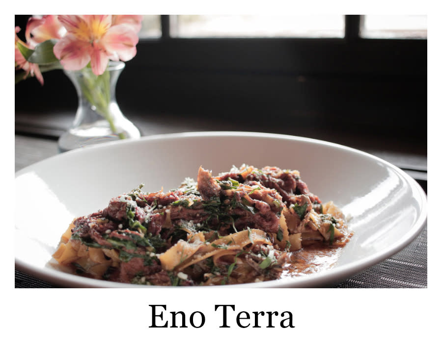 A plate of pasta from Eno Terra