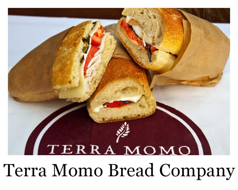 a sandwich from Terra Momo Bread Company
