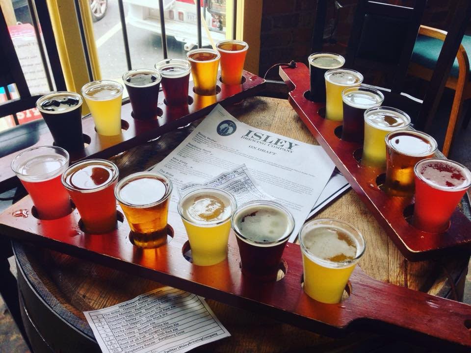 Isley Brewing Company flights
