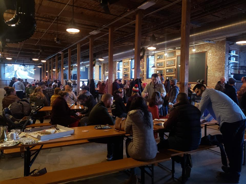 Patrons enjoying The Guild Taproom in Providence RI