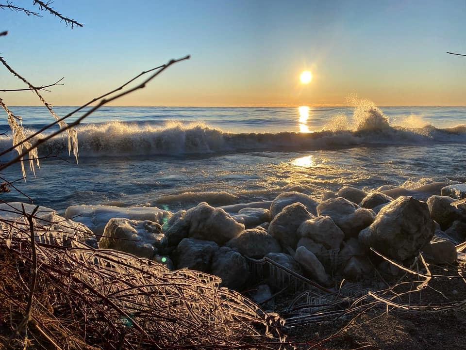 Lake Michigan Winter Sunrise