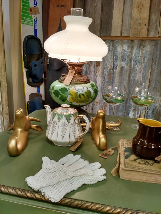 Loads of antiques and collectibles at Vintage Villa in Sulphur.
