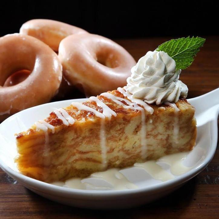 WalkOns Donut Bread Pudding