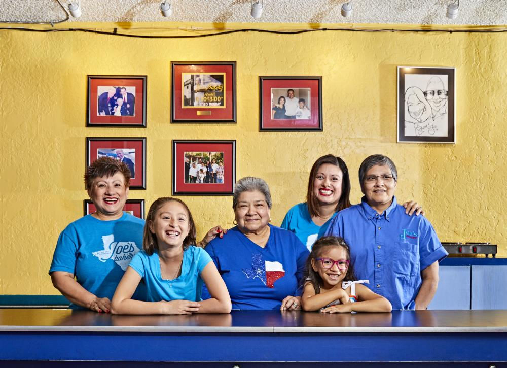 Regina Estrada and family at Joes Bakery and Coffee Shop
