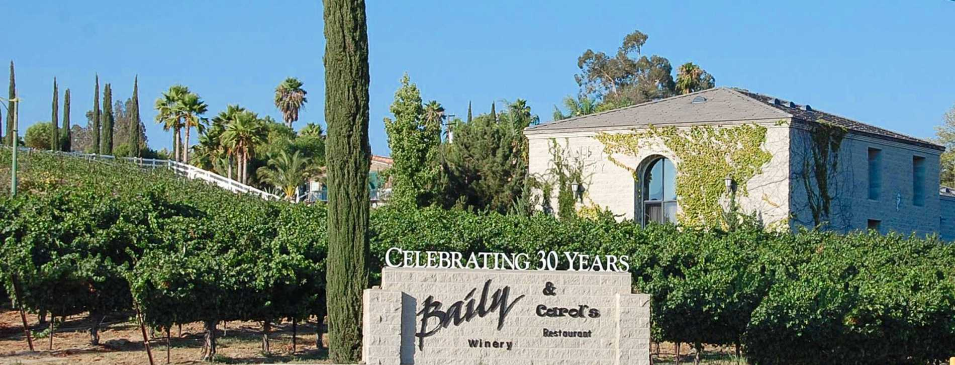 Baily Winery in Temecula, CA