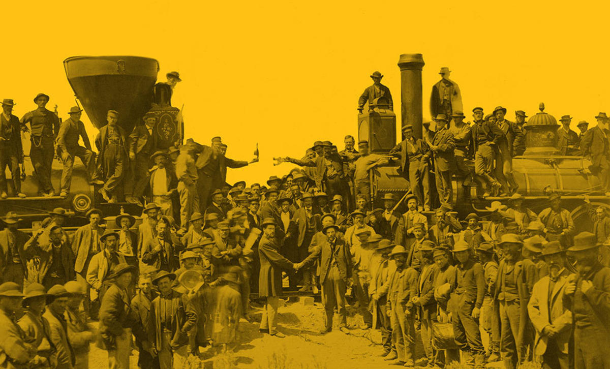 Driving the Last Golden Railroad Spike