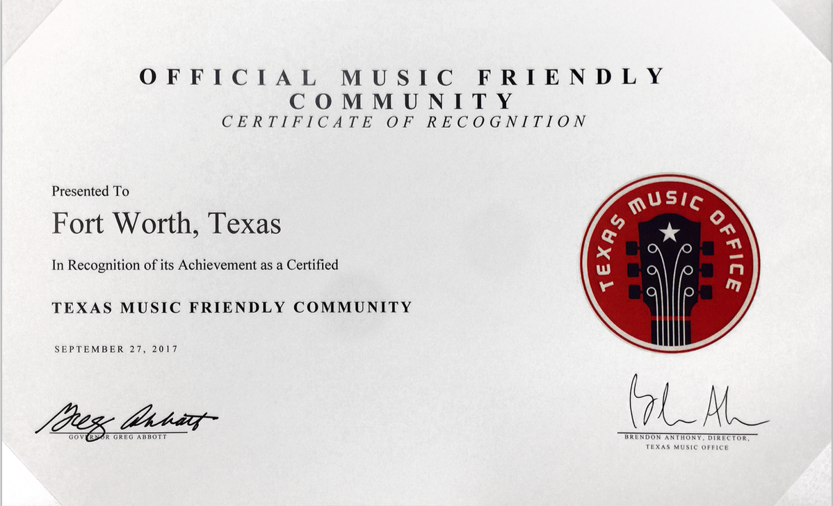 Texas Music Friendly City