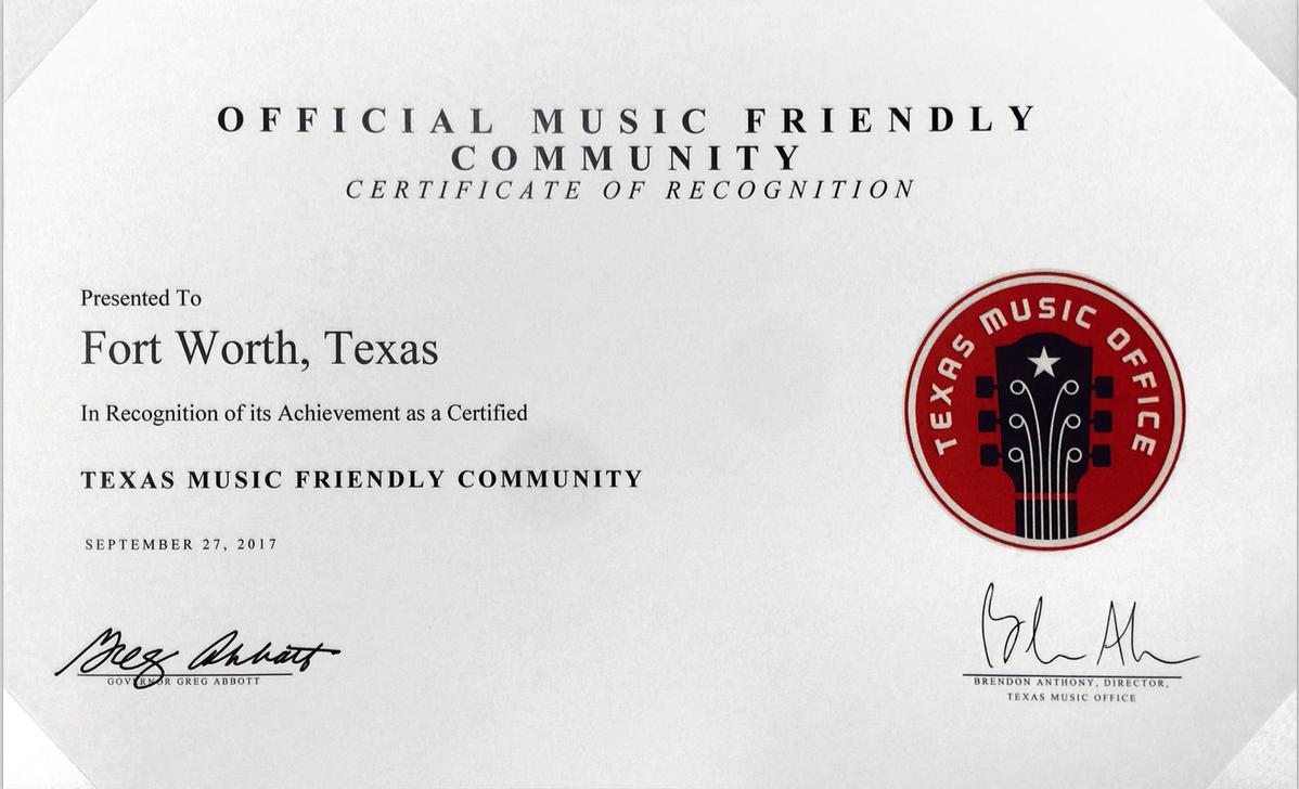 Texas Music Friendly City