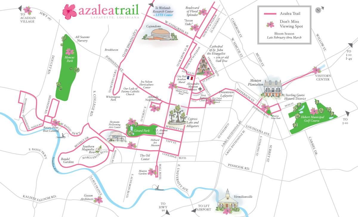 Azalea Trail Map 10/19