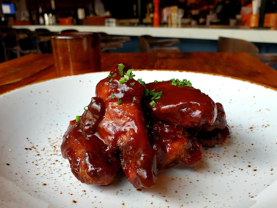 BBQ Wings at Bardea, Wilmington, Delaware