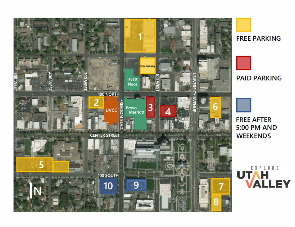 Provo Parking Map TEMP '19