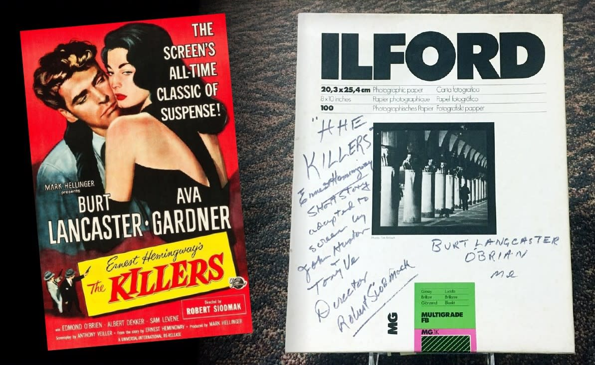 The Killers Ilford Photo Box with Ava's handwriting