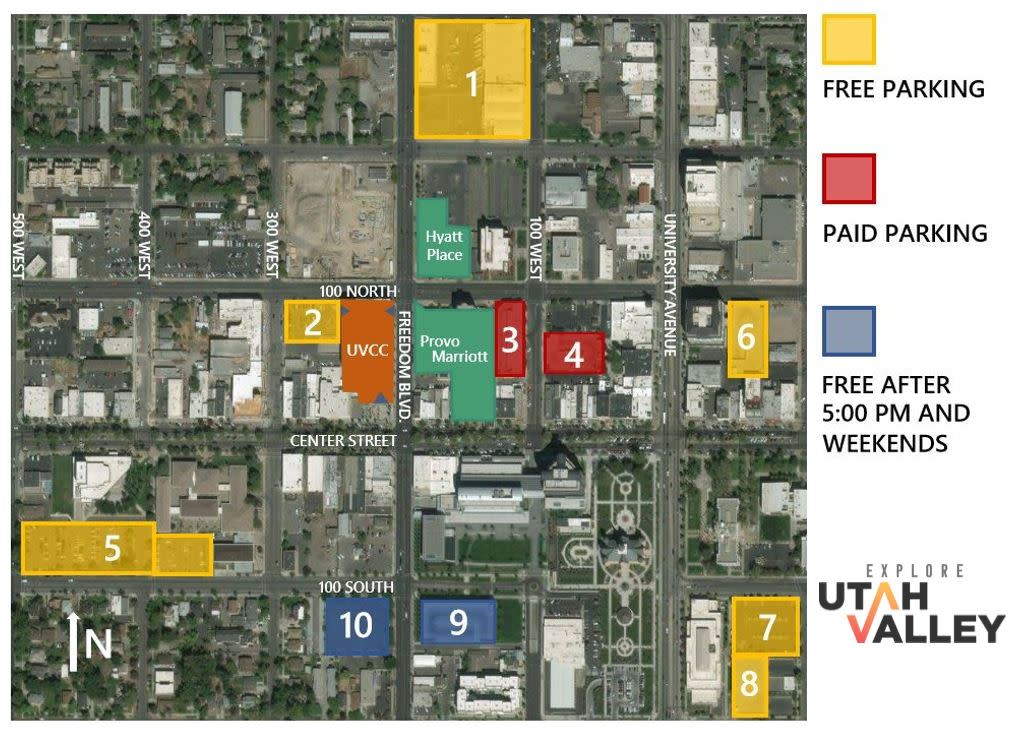 UVCC Parking Map pg. 1 NEW