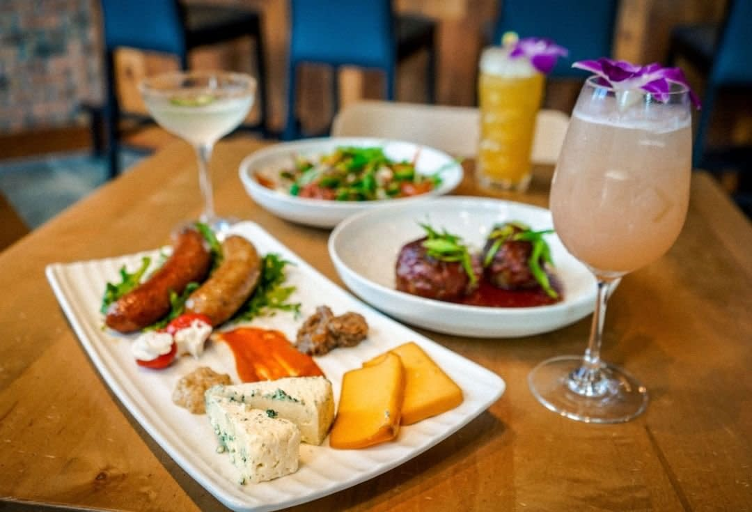 German Sausages, cheeses, meatballs and cocktails at Parlor on Seventh in Covington KY