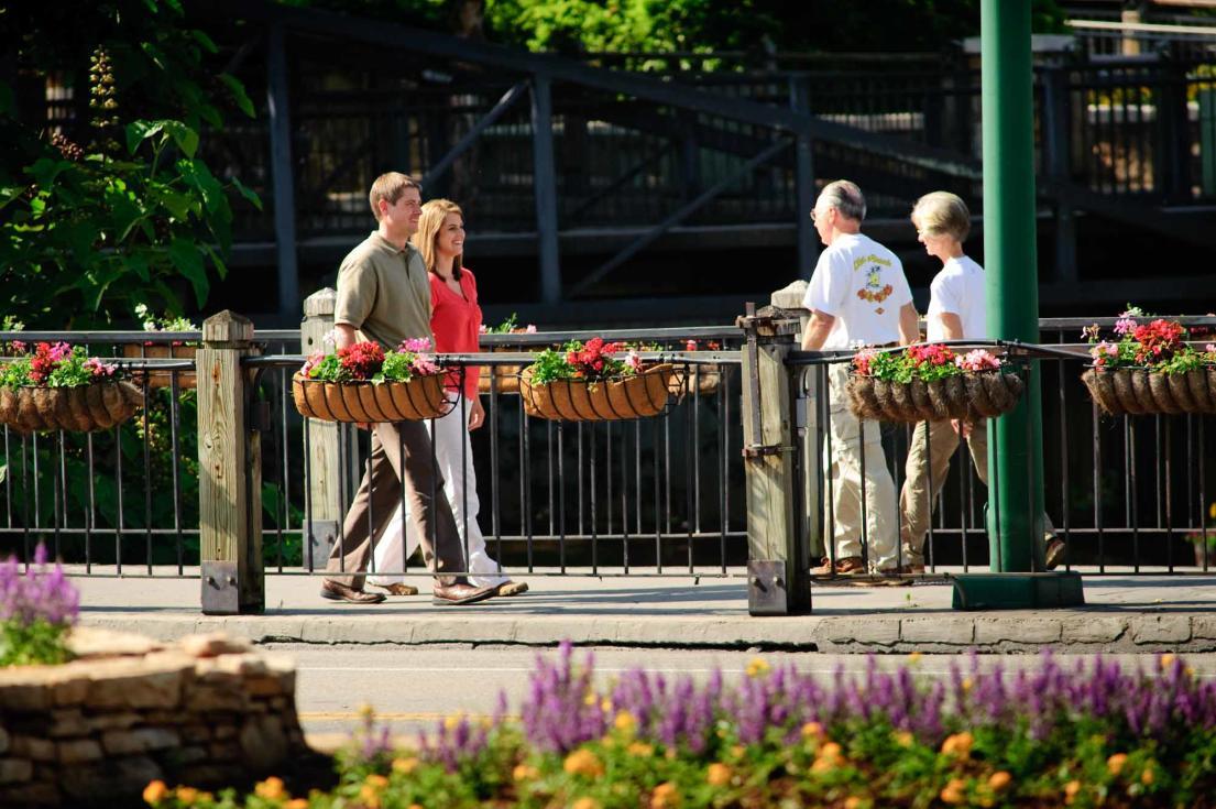 People Walking Downtown