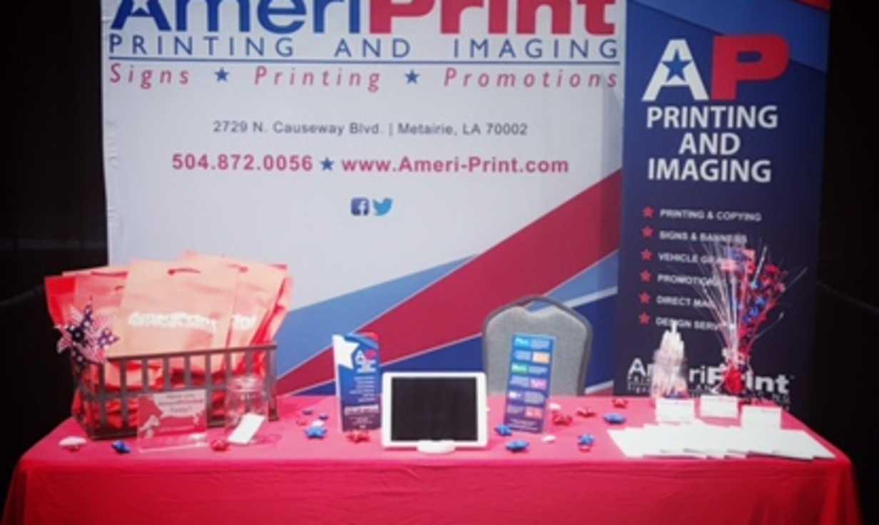 AmeriPrint Trade Show Setup