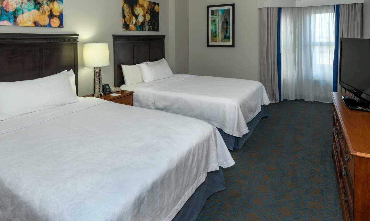 Homewood Suites Downtown Double Queen Guestroom