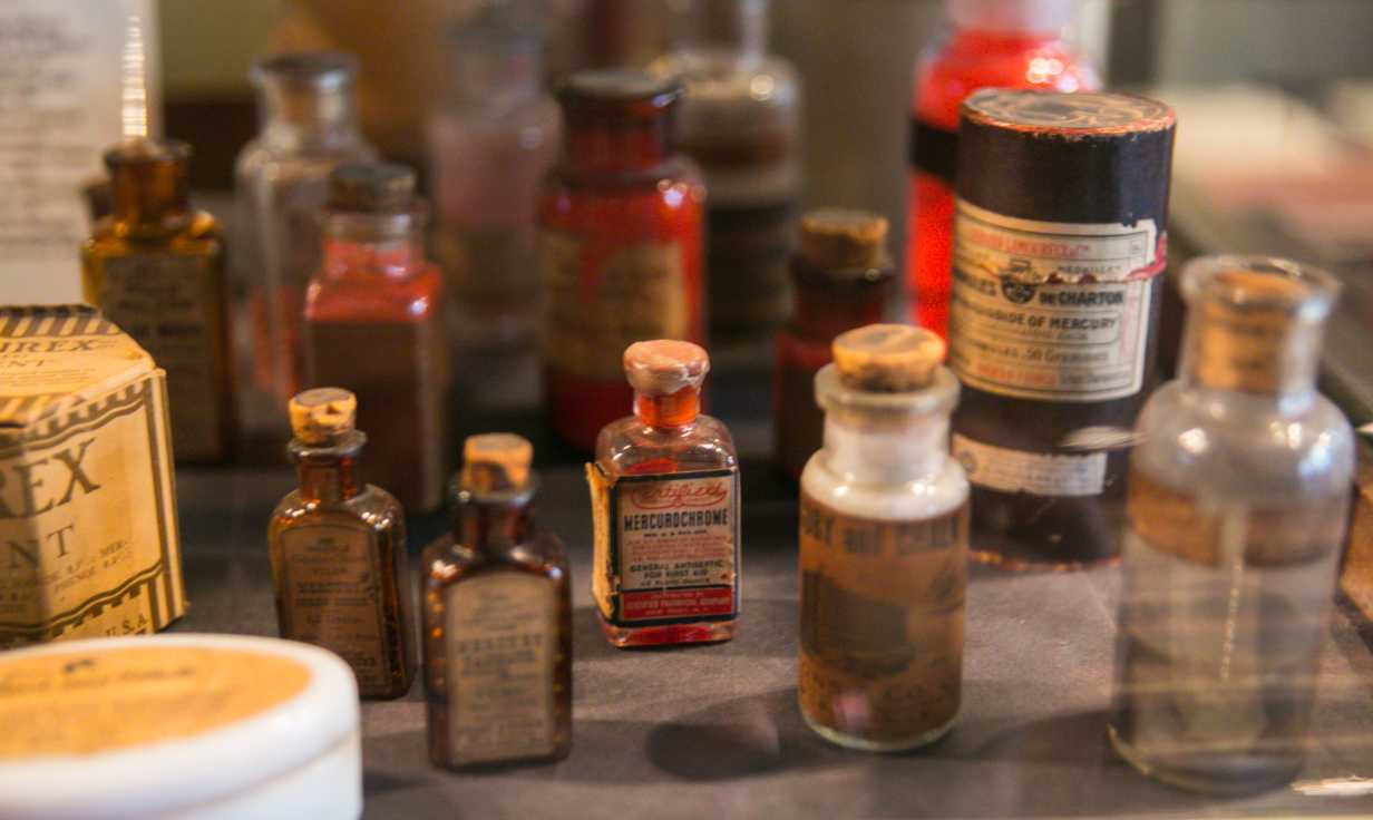 New Orleans Pharmacy Museum Medicine Bottles