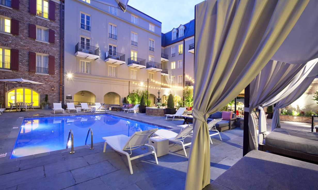 Pool with Cabana's