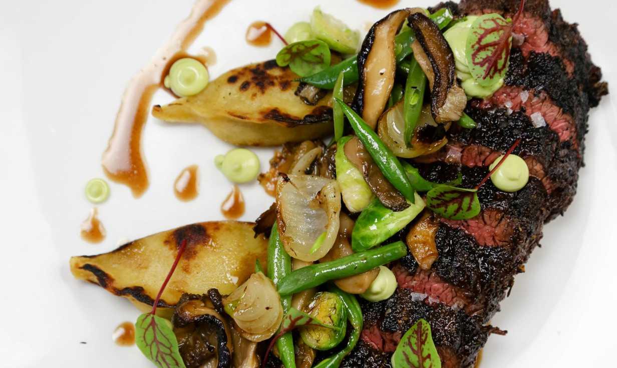 Wagyu Hangar Steak at Restaurant August