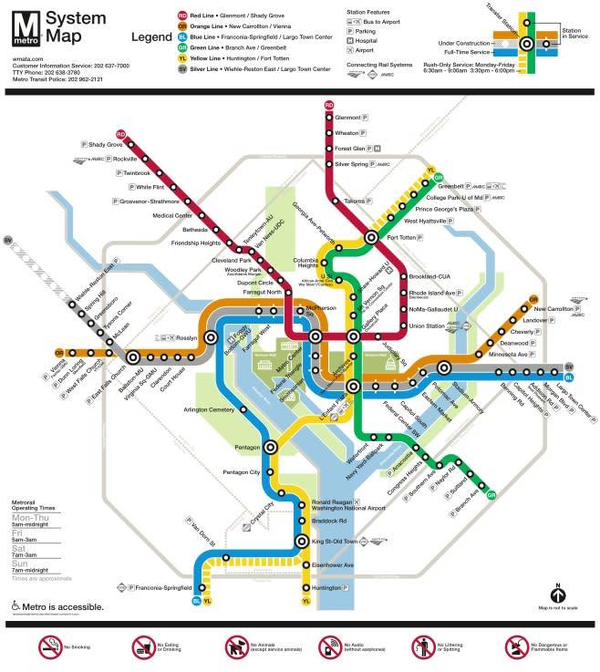Metro System Map