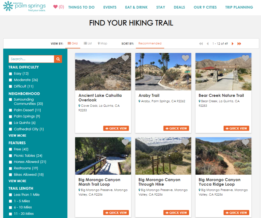Digital Analytics_Hiking Site Screenshot