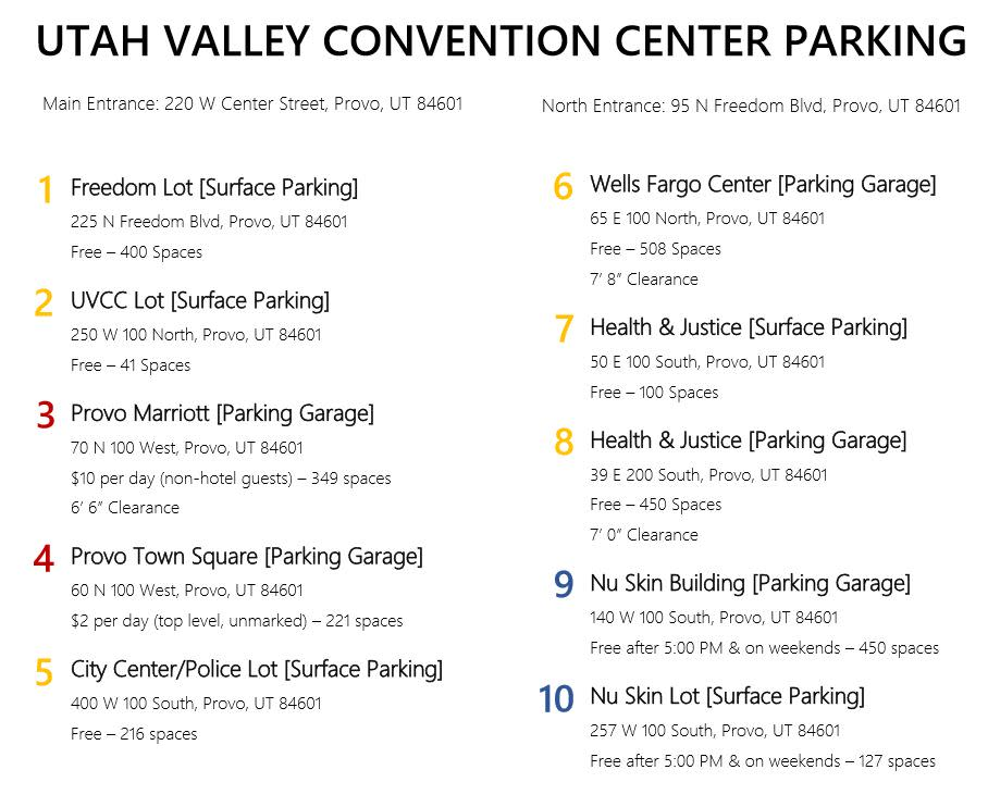 UVCC Parking Map pg. 2