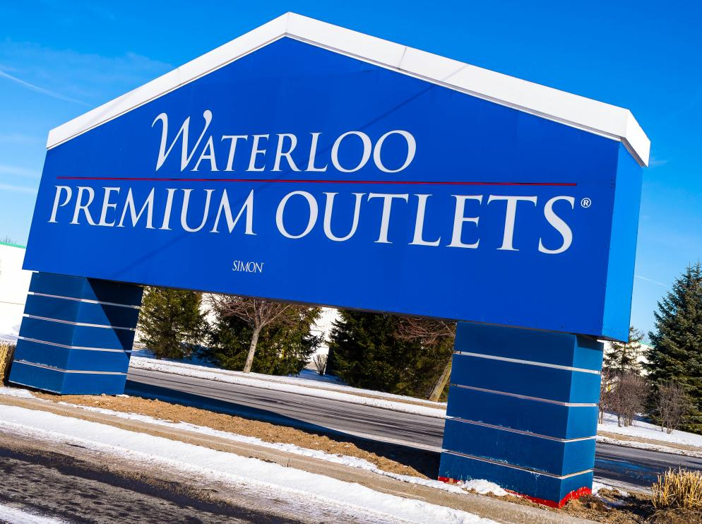 Waterloo Premium Outlets Sign