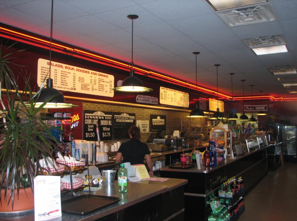 Downtown Deli Interior